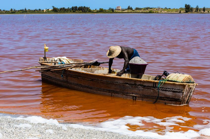 Lac Rose au Sénégal