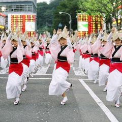 Danse traditionnelle Bon Odori au Japon